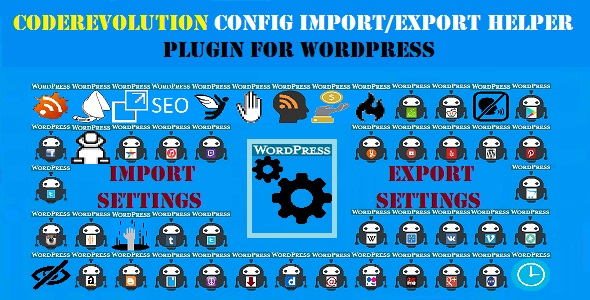 CodeRevolution Configuration Import/Export Helper Plugin for WordPress