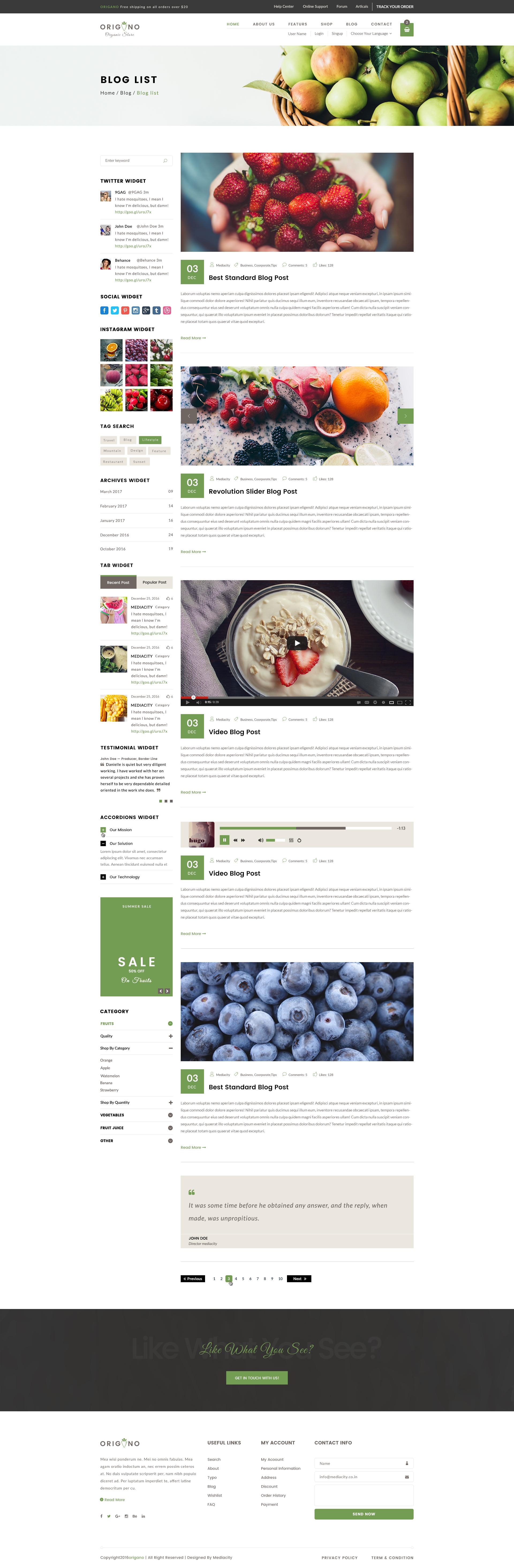 Origano - Organic Store HTML Template by media-city   ThemeForest