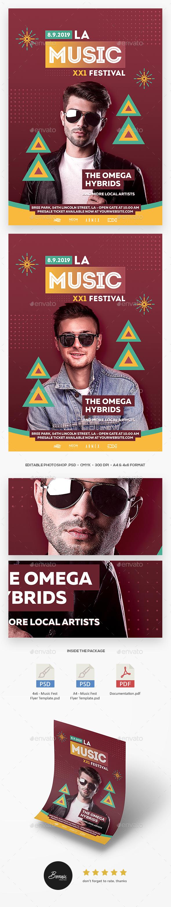 Music Fest Flyer - Concerts Events