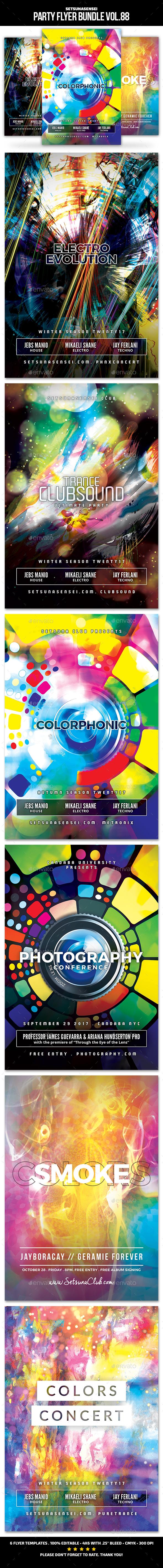 Party Flyer Bundle Vol.88 - Clubs & Parties Events