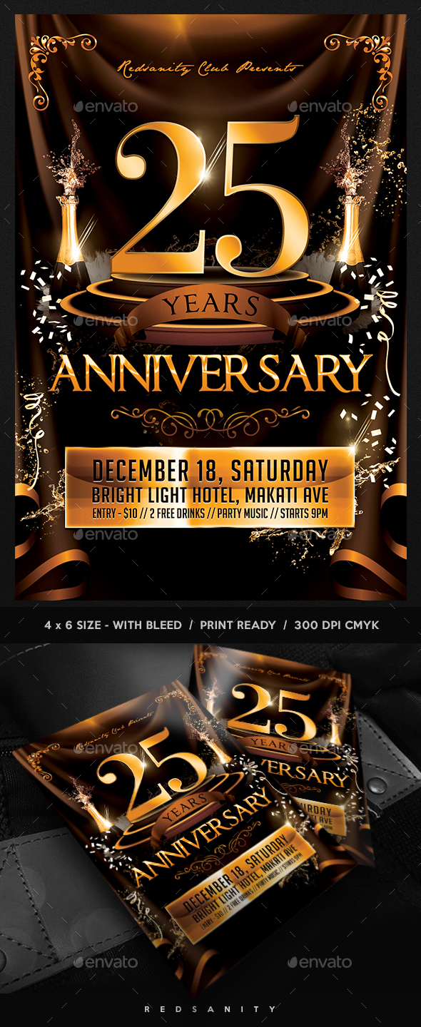 Anniversary Event Flyer - Miscellaneous Events