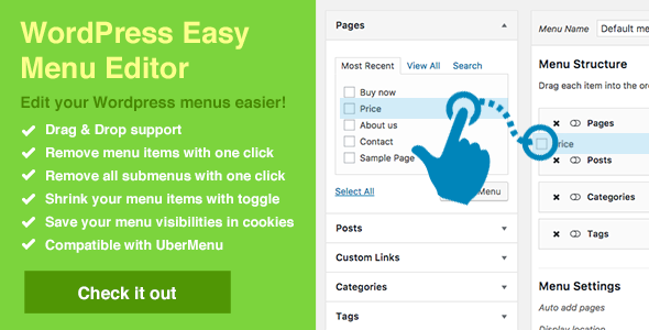 WordPress Easy Menu Editor - CodeCanyon Item for Sale