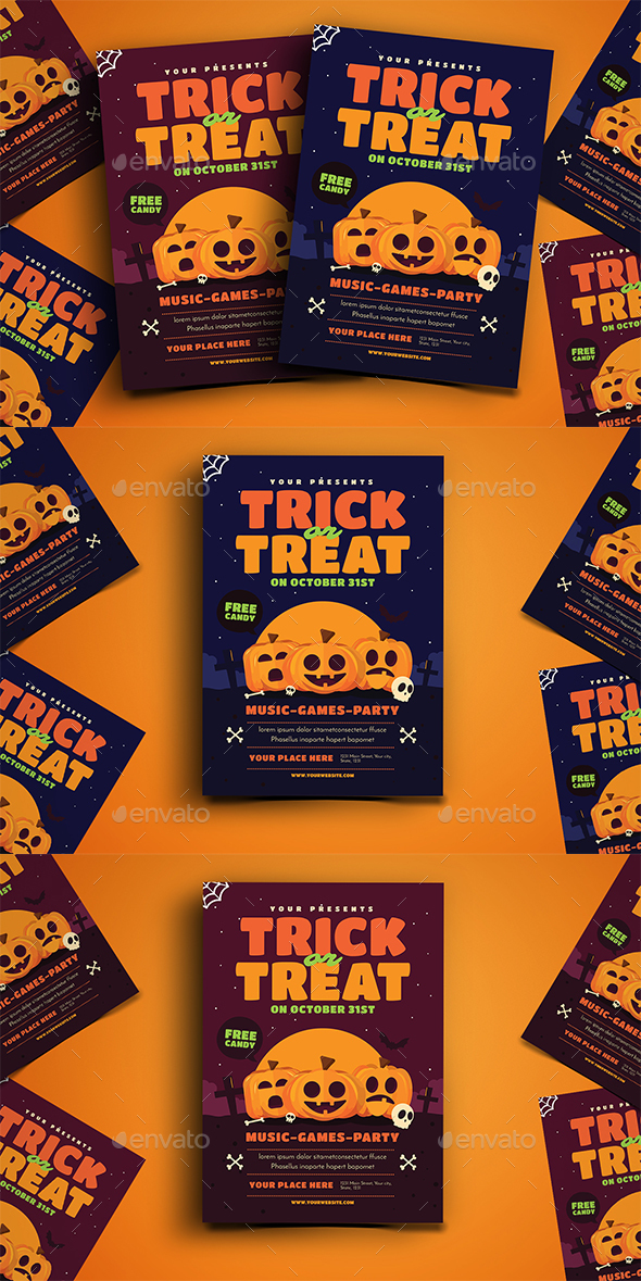 Trick Or Treat Halloween Event Flyer - Holidays Events