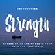 Strenght - Script Brush - GraphicRiver Item for Sale