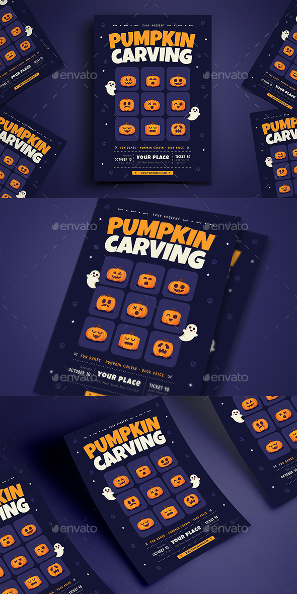 Pumpkin Carving Flyer - Holidays Events
