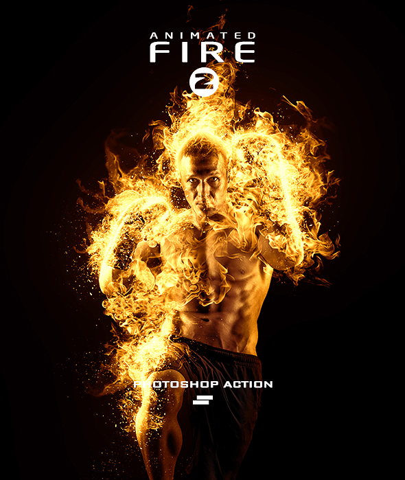 GraphicRiver Gif Animated Fire 2 Photoshop Action 20541793