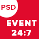 EVENT 24:7 Events & Conference PSD Template