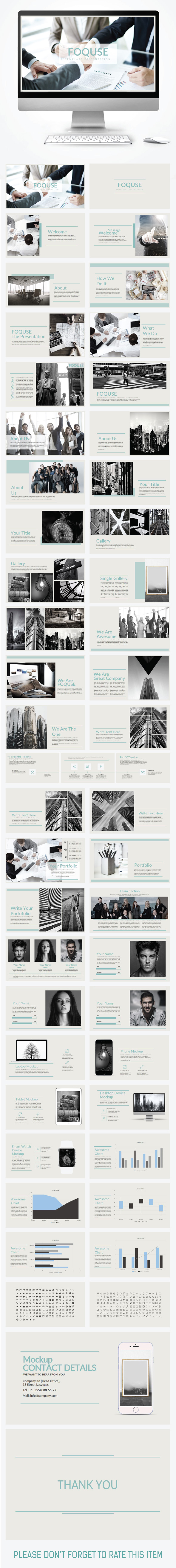 FOQUSE Template Presentation - Creative PowerPoint Templates