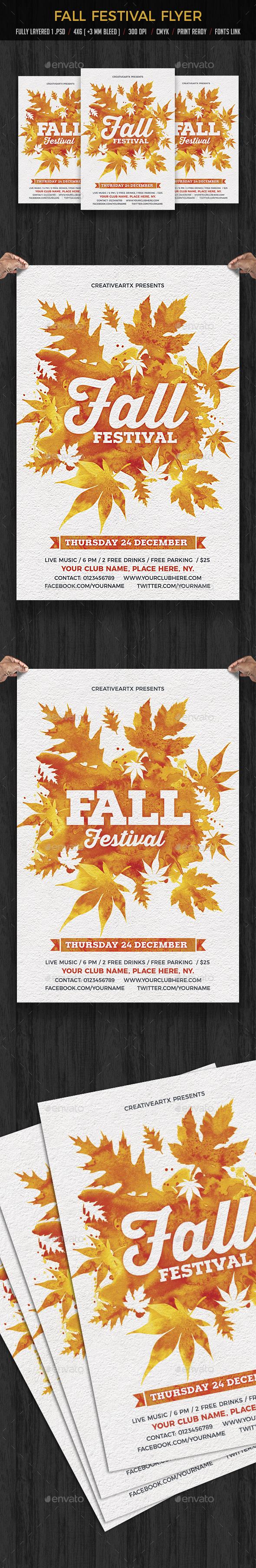Fall / Autumn Festival Flyer - Events Flyers