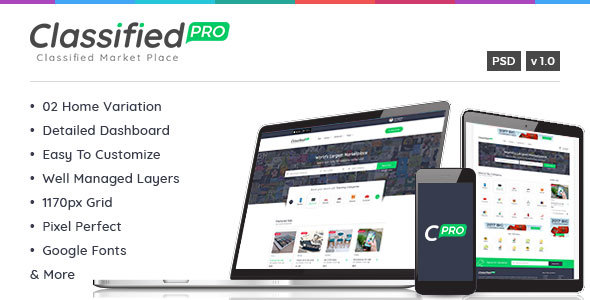 Classified Pro – Classified and Listing Template