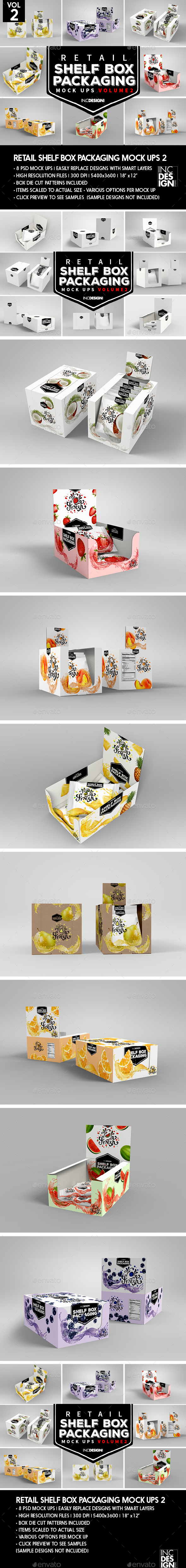 Retail Shelf Box Packaging MockUps 2