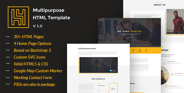 H4 - Modern HTML Template - Creative Site Templates