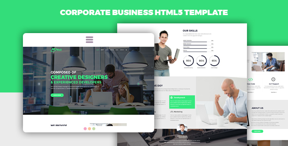 Mixit - Corporate Business HTML5 Landing Page Template