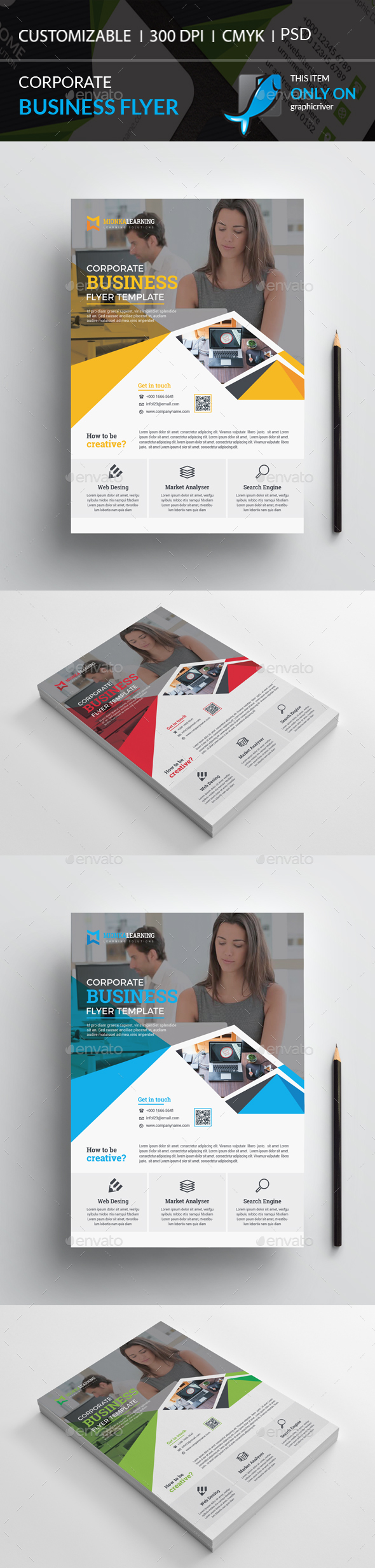 GraphicRiver Corporate Flyer 20542205