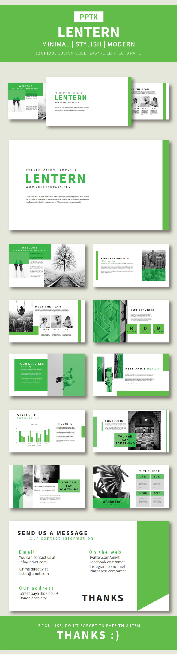 Lentern Pptx Template - Business PowerPoint Templates