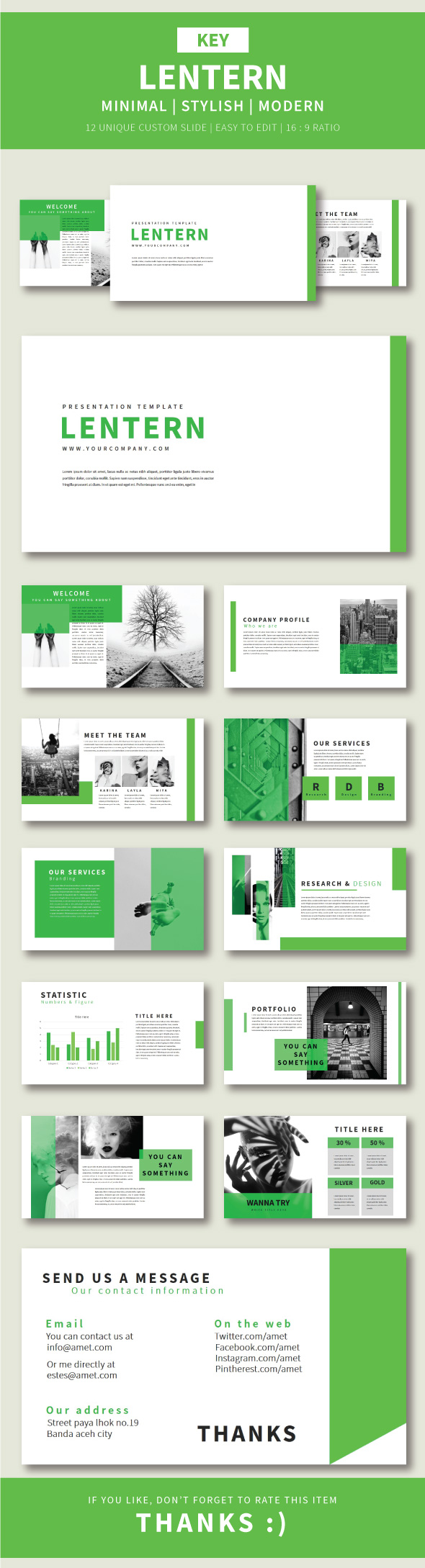 Lentern Keynote Template - Business Keynote Templates