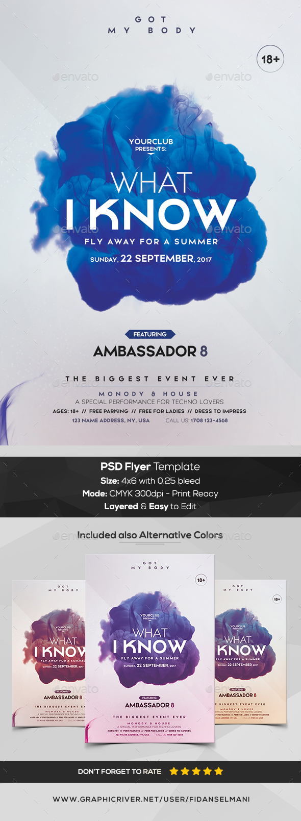 Alternative Minimal - PSD Flyer Template - Flyers Print Templates
