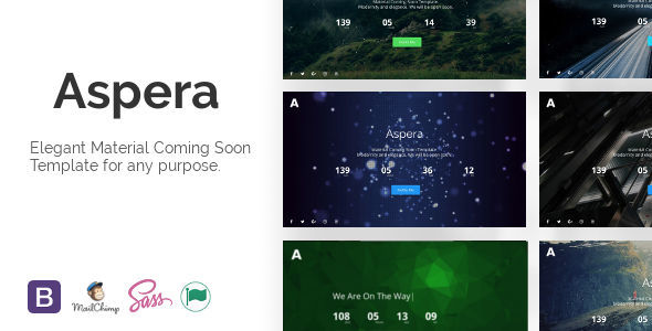 Aspera - Material Coming Soon Template
