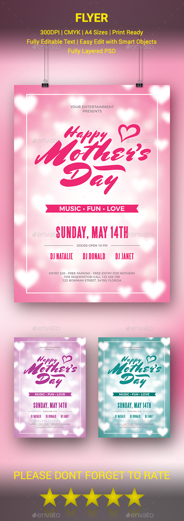 GraphicRiver Mother's Day Flyer 20542924