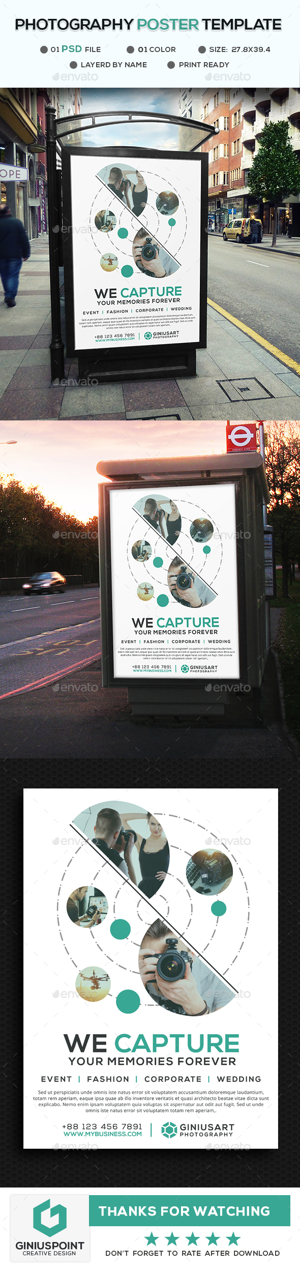 Photography Poster Tamplate - Signage Print Templates