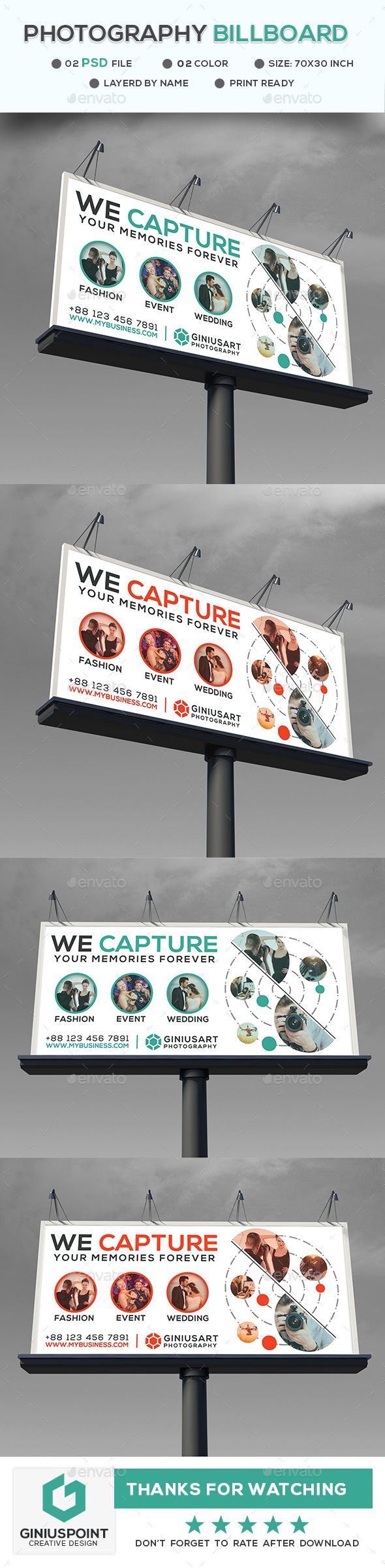 Photography Billboard - Signage Print Templates