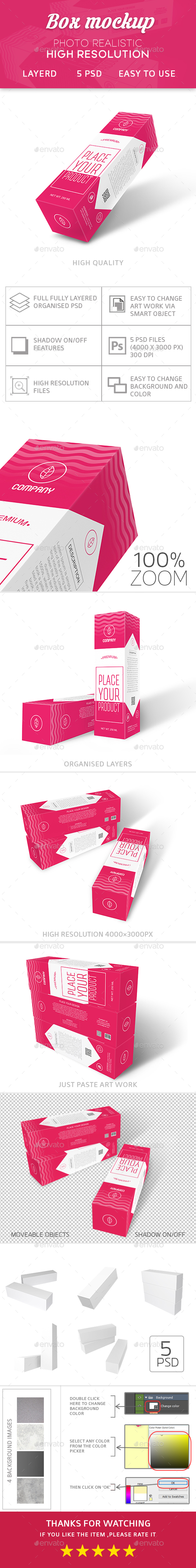 Box Mockup - Miscellaneous Packaging