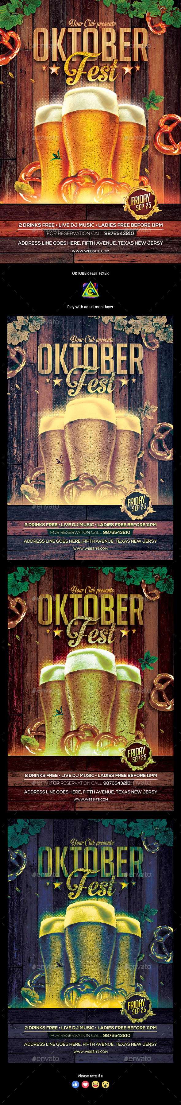 Oktoberfest Party Flyer - Clubs & Parties Events