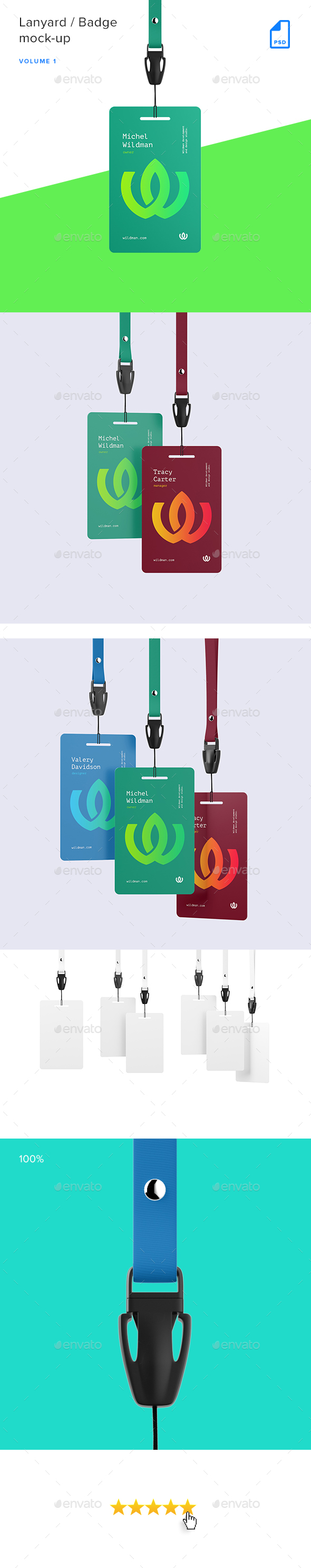 GraphicRiver Lanyard ID Badge Mock-up Vol.1 20543160