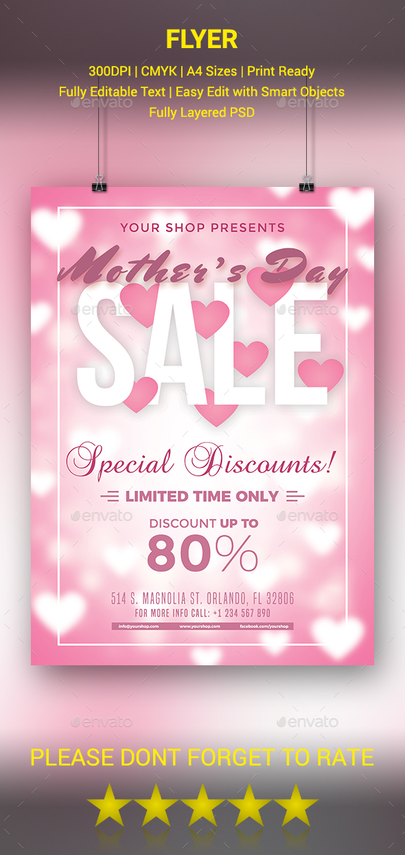 GraphicRiver Mother's Day Sale Flyer 20543191