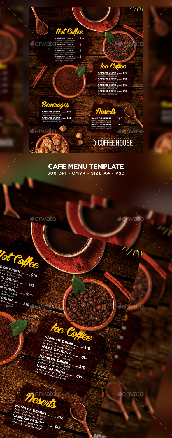GraphicRiver Cafe Menu 20543383