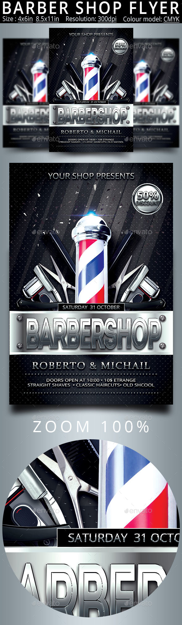 Barber Shop Flyer And Poster - Commerce Flyers