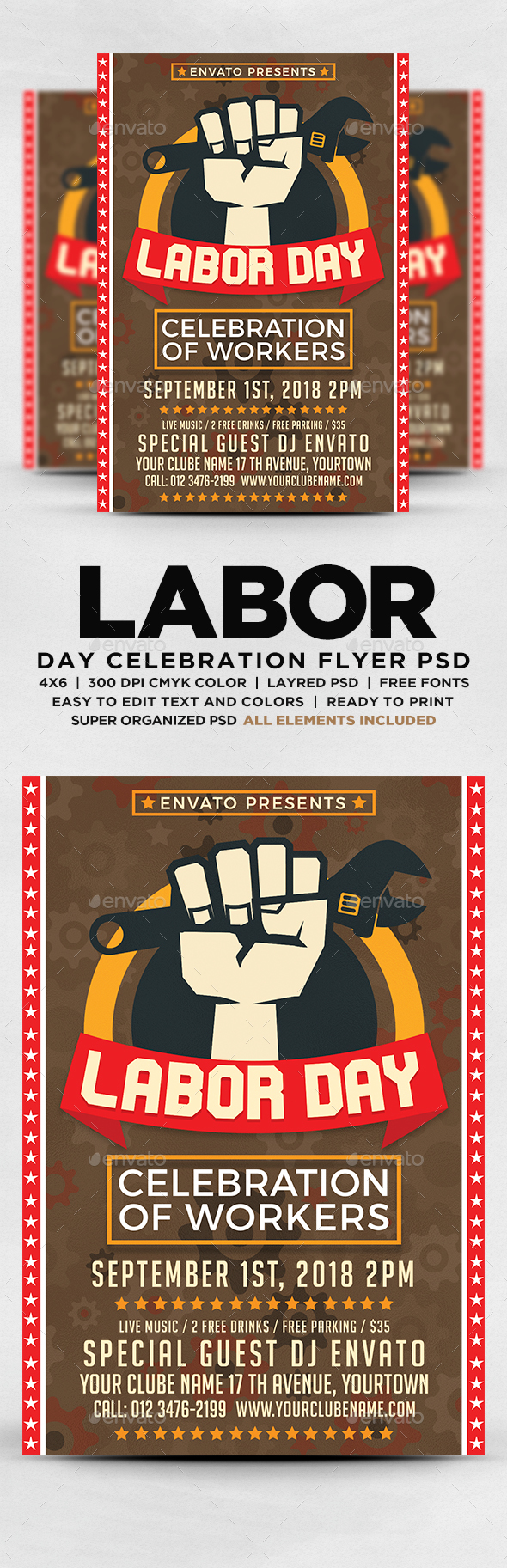GraphicRiver Labor Day Flyer 20543740