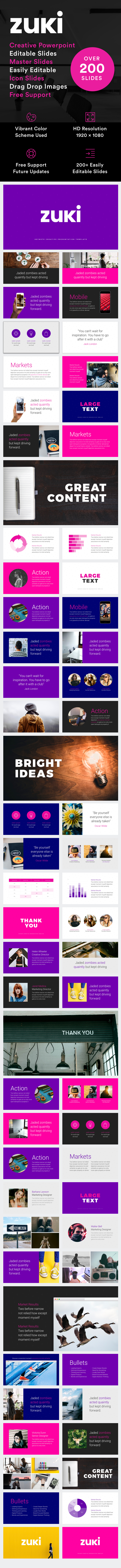 Zuki - Powerpoint Presentation Template - Creative PowerPoint Templates