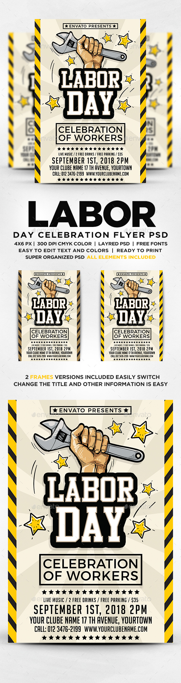 GraphicRiver Labor Day Flyer Template 20543770