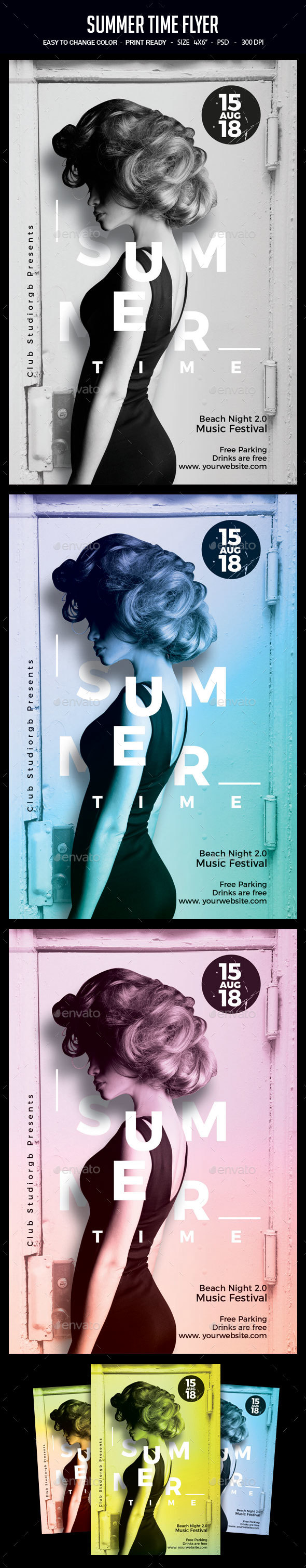 Summer Time Flyer - Clubs & Parties Events