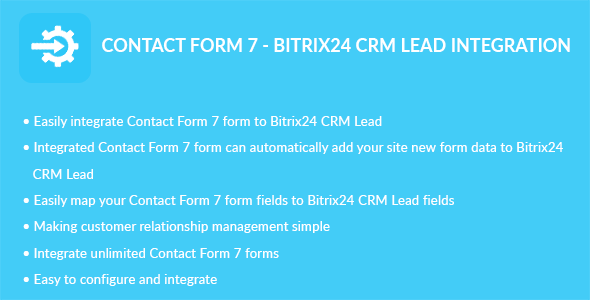 CodeCanyon Contact Form 7 Bitrix24 CRM Lead Integration 20543854