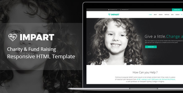 Impart - Responsive HTML Template for Charity & Fund Raising