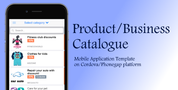 Product Catalog - Cordova App Template - CodeCanyon Item for Sale