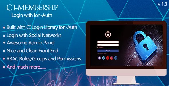 Codeigniter Login with Ion Auth - CodeCanyon Item for Sale