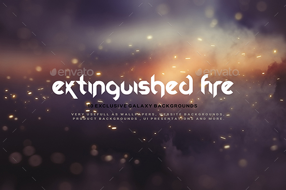 Abstract Extinguished Fire Backgrounds 02 - Abstract Backgrounds