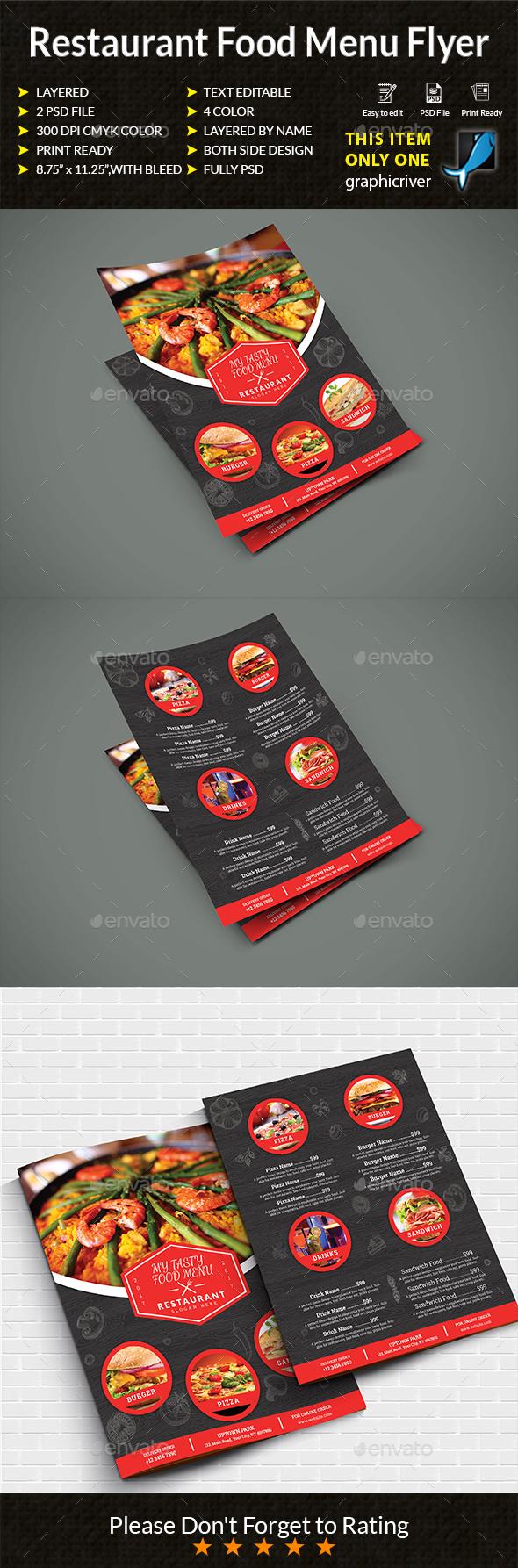 GraphicRiver Restaurant Food Menu Flyers 20544625