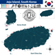 Map of Jeju Island, South Korea - GraphicRiver Item for Sale