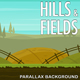 2D Hills and Fields - Cartoony Nature Parallax Background
