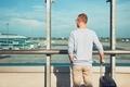 Traveler waiting for departure