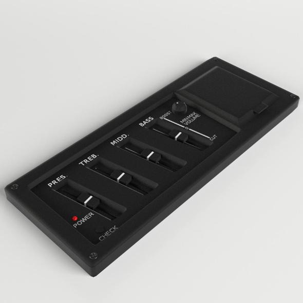 Guitar Equalizer control panel - 3DOcean Item for Sale