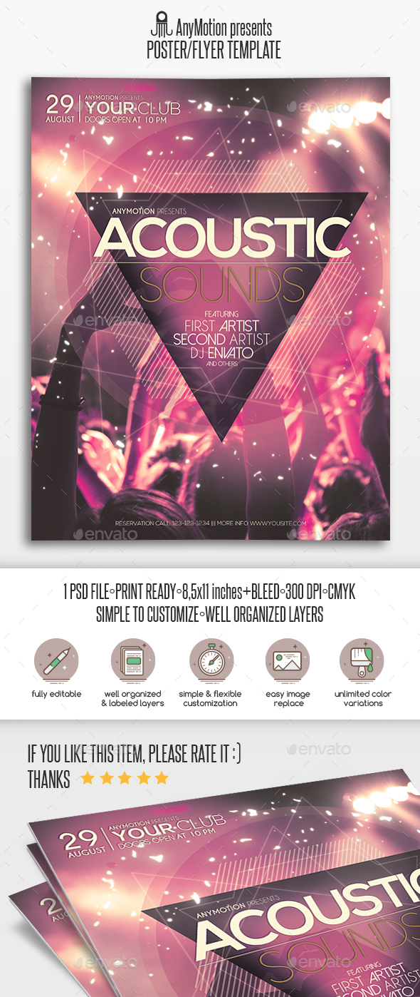 Acoustic Sessions Flyer / Poster - Clubs & Parties Events