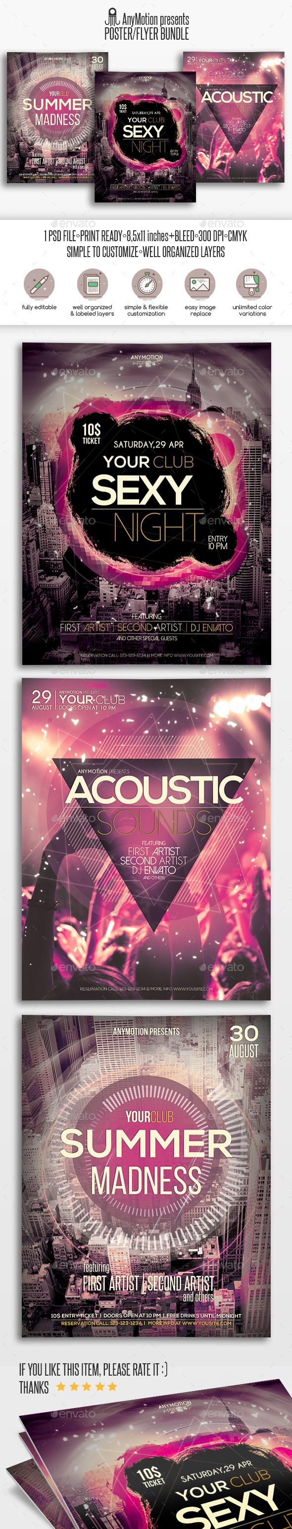 Flyer Bundle Vol.3 - Clubs & Parties Events