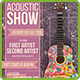 Acoustic Show Flyer | Poster - GraphicRiver Item for Sale