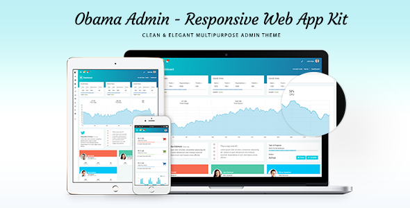 Obama -  Responsive Admin Dashboard Template - Admin Templates Site Templates