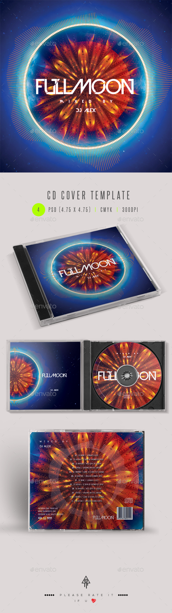 Fullmoon CD DVD Cover Artwork - CD & DVD Artwork Print Templates